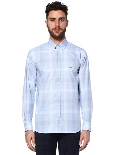 Etro Kareli Uzun Kollu Gömlek Mavi